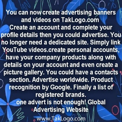 You can now create advertising banners and videos on www.taklogo.com