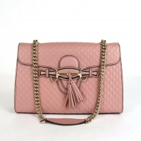 best offers Gucci Soft Pink Micro-guccissima Leather Large Emily Chain Bag Price:US $1,033.99
