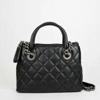 """best offers Chanel Black Leather Diamond Quilted Small Chain Tote Bag with Antique Hardware Condition:Pre-owned """"Light scuffs on handle"""" Price: US $2,067.99"""
